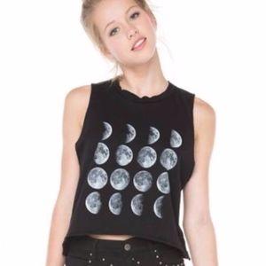 Brandy Melville distressed moon phase Tank